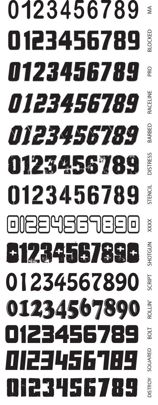Incite Logos Font Styles Number Styles